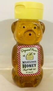 12 oz. Honey Bear - Dogwood Acres Honey - Chapel Hill, North Carolina