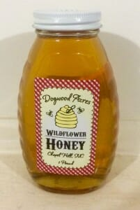 1 lb. Queenline glass jar - Dogwood Acres Honey - Chapel Hill, North Carolina